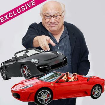 //danny devito sports cars