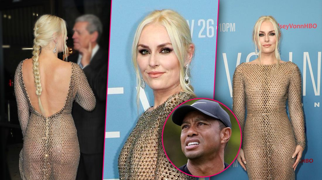 Lindsey Vonn, Dons See-Through Dress At Film Premiere