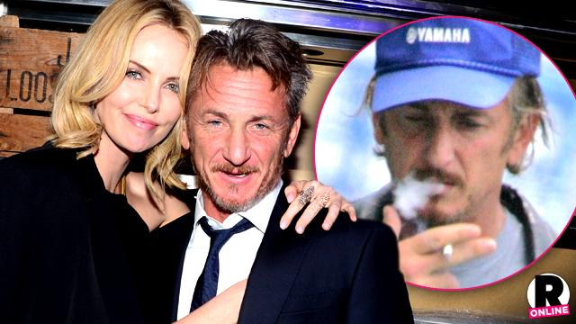 Sean Penn Fiancée Charlize Theron Smoking