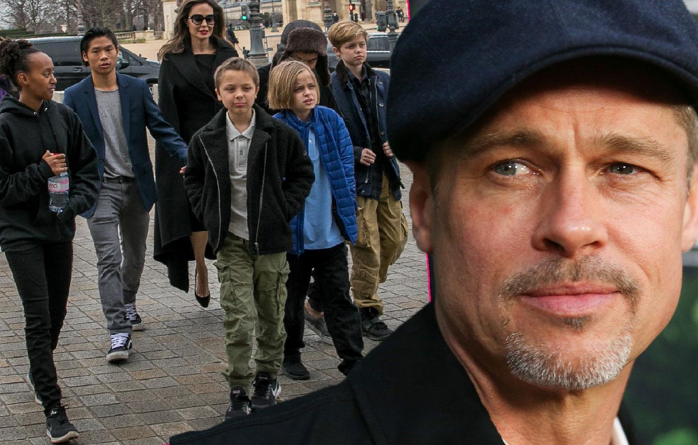 Brad Pitt Terrified Angelina Jolie Will Take Kids To England