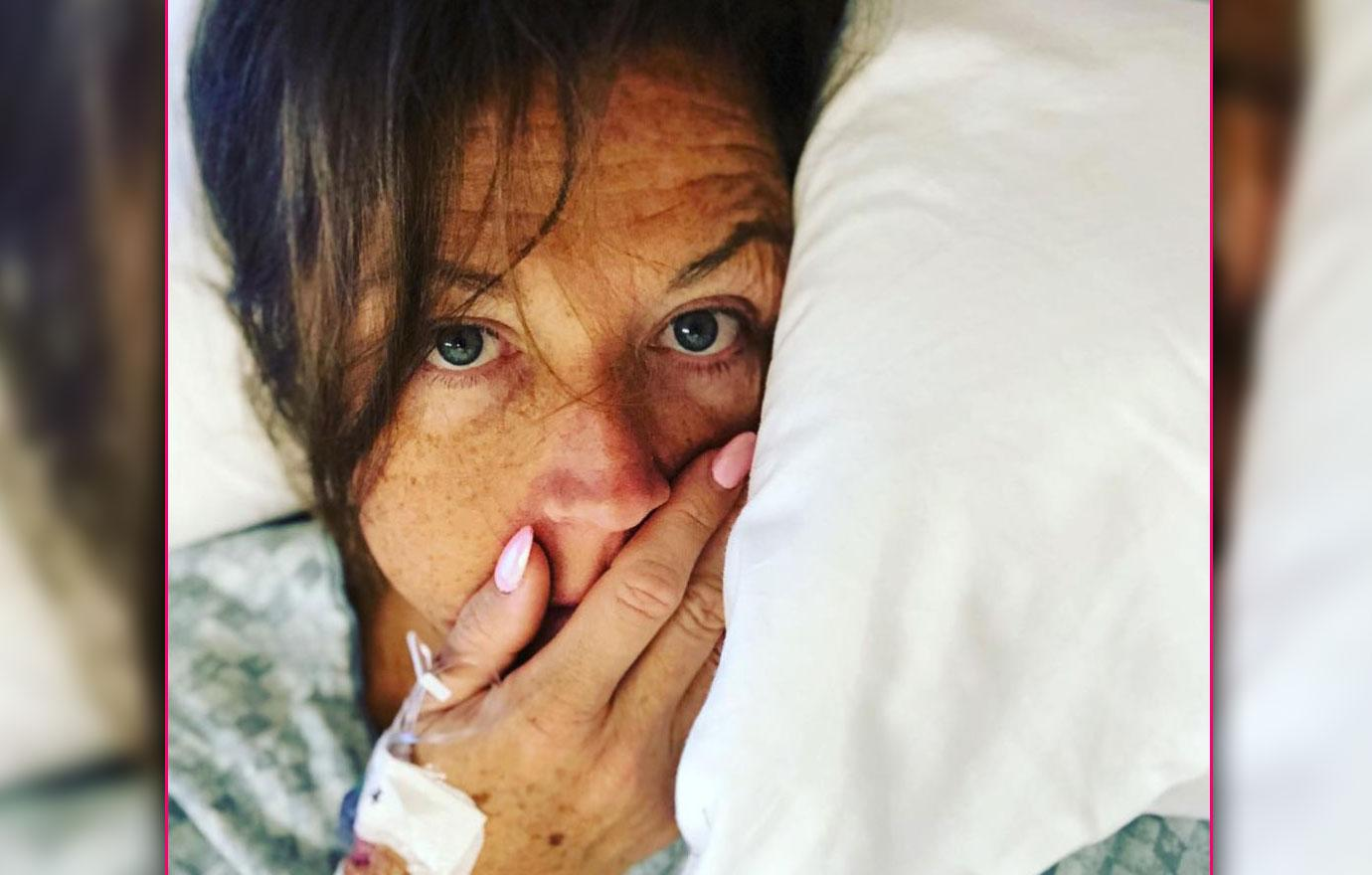 //abby lee miller posts photo lying in hospital bed non hodgkins pp
