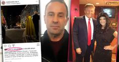 Inset Pres Trump Instagra, Inset Trump and Teresa Giudice, Joe Giudice