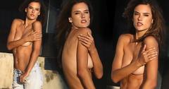 Alessandra Ambrosio Topless Photo Shoot Malibu