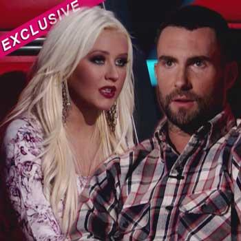 //christina aguilera fight adam levine wenn