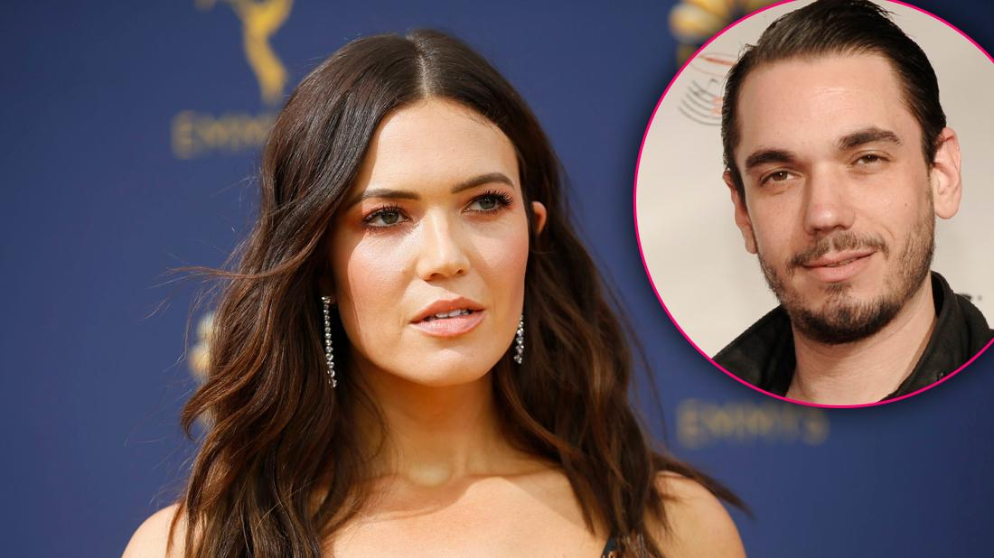 Mandy Moore Looking Sad with inset of DJ AM Death Anniversary