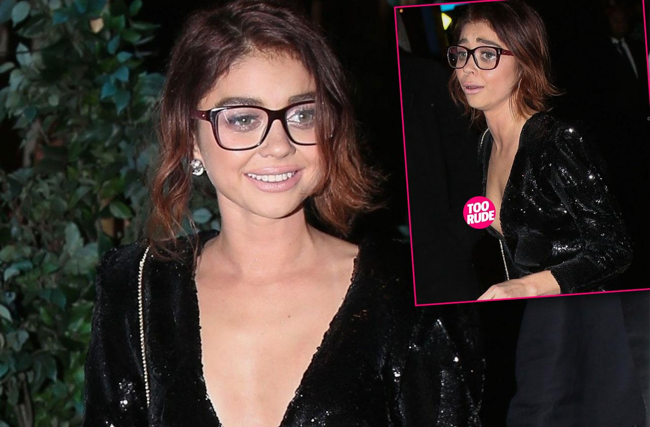 Sarah Hyland Nip Slip Mini Dress Photos
