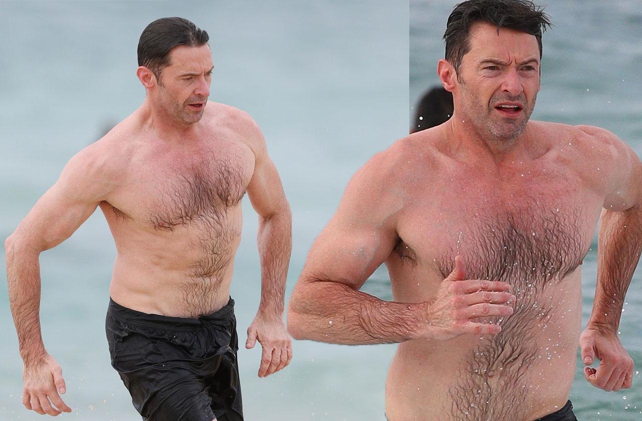Hugh Jackman Bondi Beach Australia