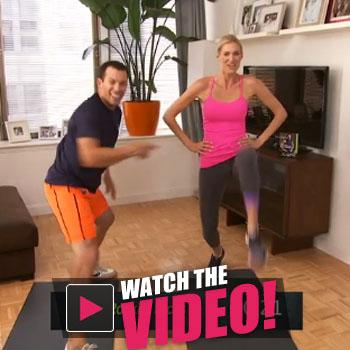 //jay cardiello and rhonys kristen taekman break down their new  minute workout dvd