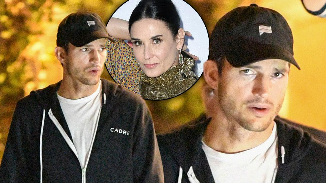 Ashton Kutcher Looks Angry After Demi Moore Accusations