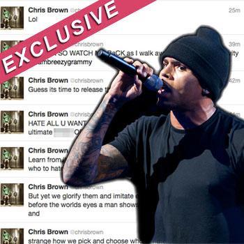 //chris brown responds twitter grammys