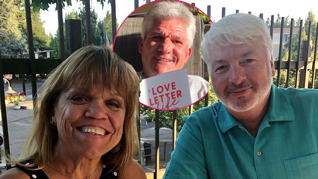Main, Amy Roloff and Chris Marek pose for a photo. Inset, Matt Roloff.