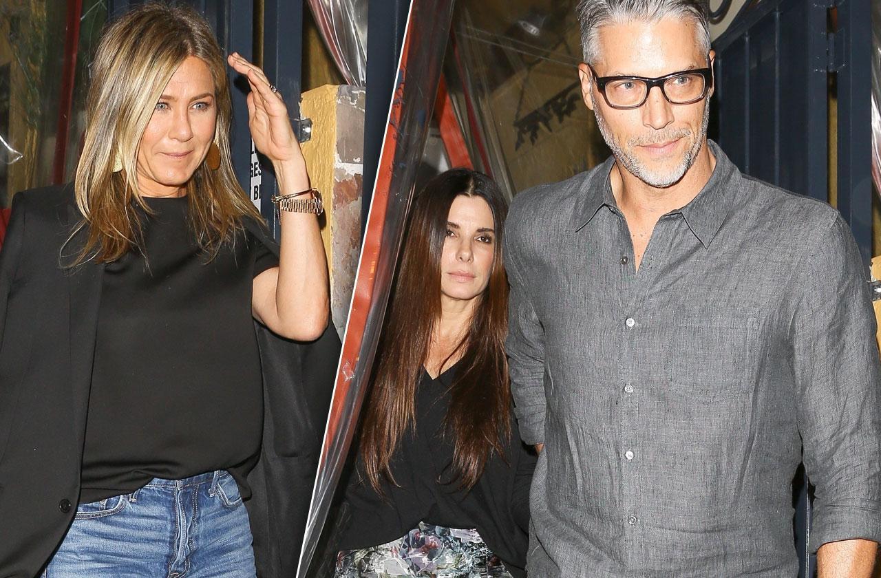 //Jennifer Aniston Sandra Bullock night out pp
