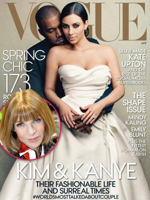 //anna wintour caves kanye west kim kardashian vogue cover tall