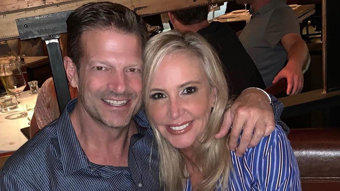 Shannon Beador and John Janssen take a selfie together.