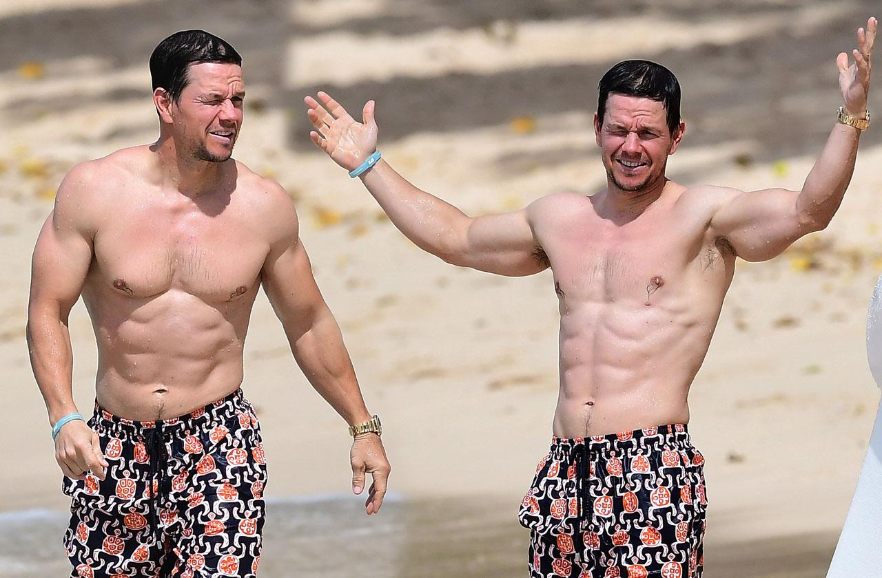 //Mark Wahlberg shirtless Rhea Durham bikini pp