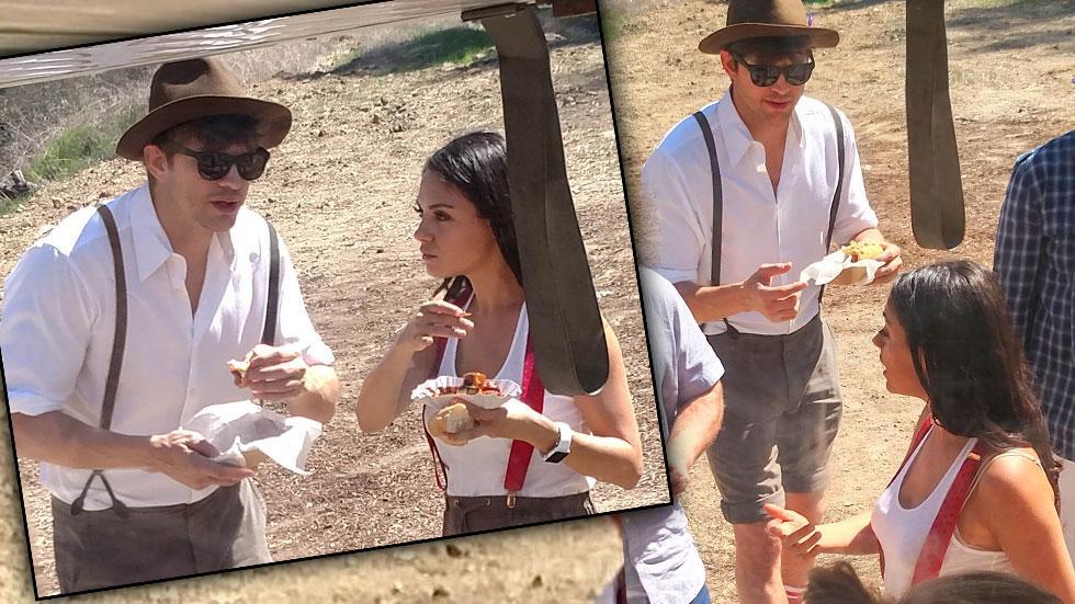 Mila Kunia Ashton Kutcher Oktoberfest