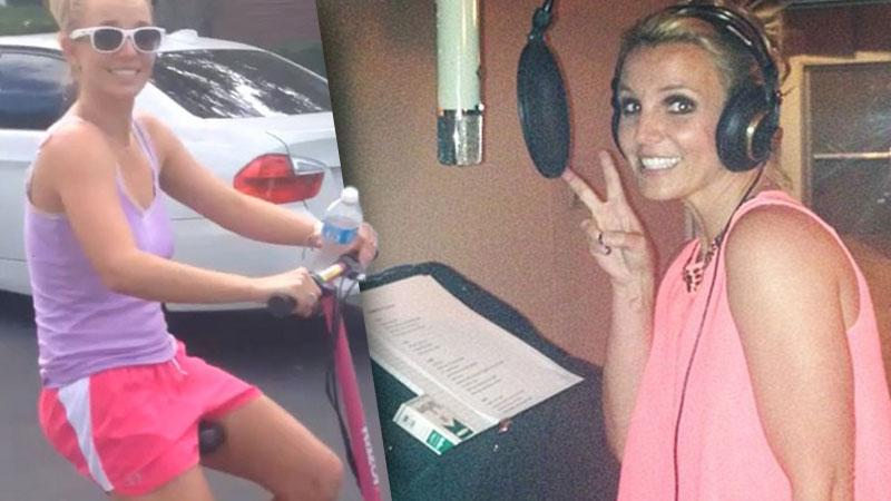 //britney spears recording again