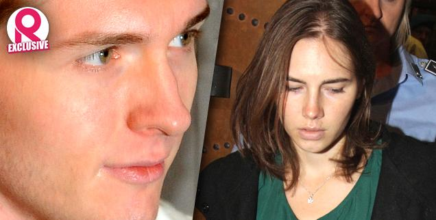 //amanda knox evil bitch raffaele sollecito turn knox faces  years meredith kercher murder