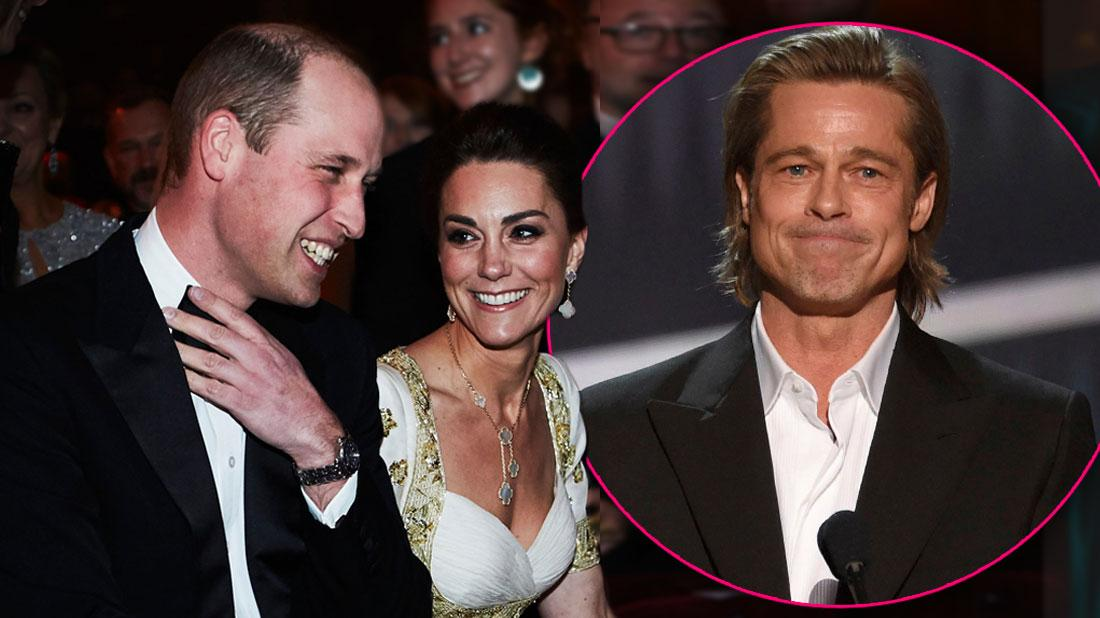 Prince William & Kate Laugh At Brad Pitt's BAFTA Megxit Speech