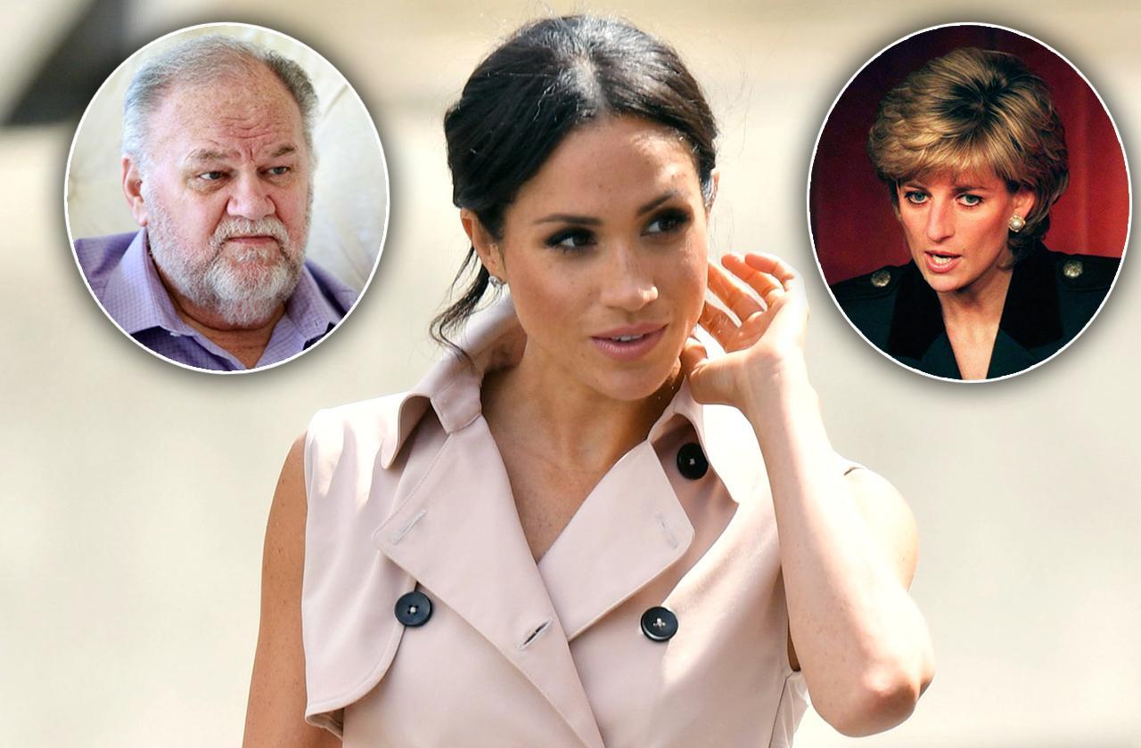 //Princess Diana Meghan Markle Cut Out Father pp