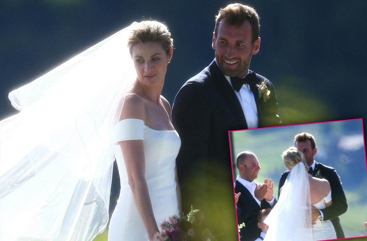 Erin Andrews Wedding Outdoor Ceremony Jarret Stoll