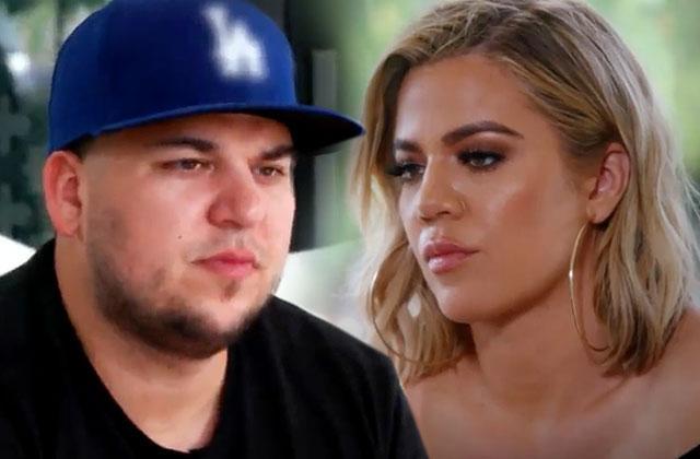 kuwtk rob kardashian feud khloe kardashian