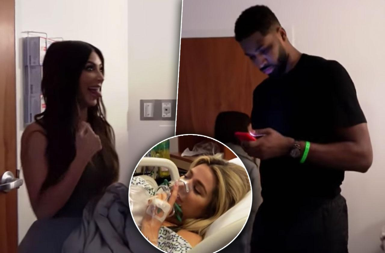 Kim Kardashian Avoids Tristan Thompson Khloe Delivery Room
