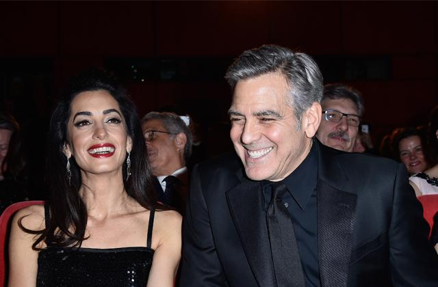 george clooney changing changing diapers