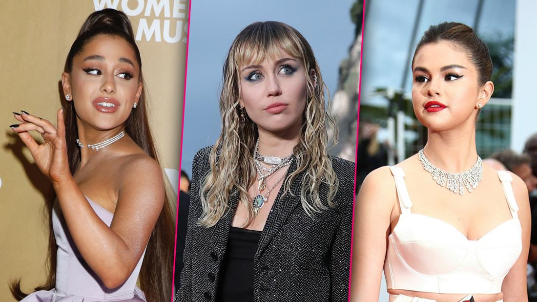 Ariana Grande Miley Cyrus Selena Gomez Look Serious Share Ghost Stories