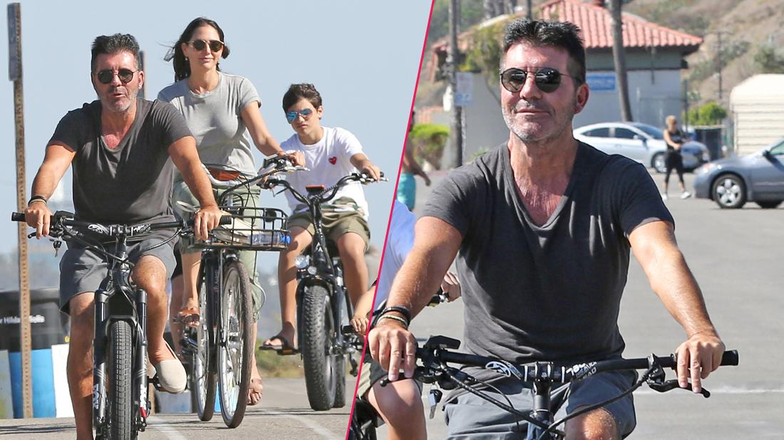 Simon Cowell Goes Bike Riding With His Family