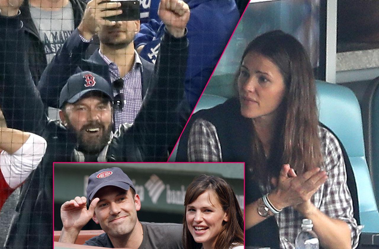 Ben Affleck Jennifer Garner Red Sox Game