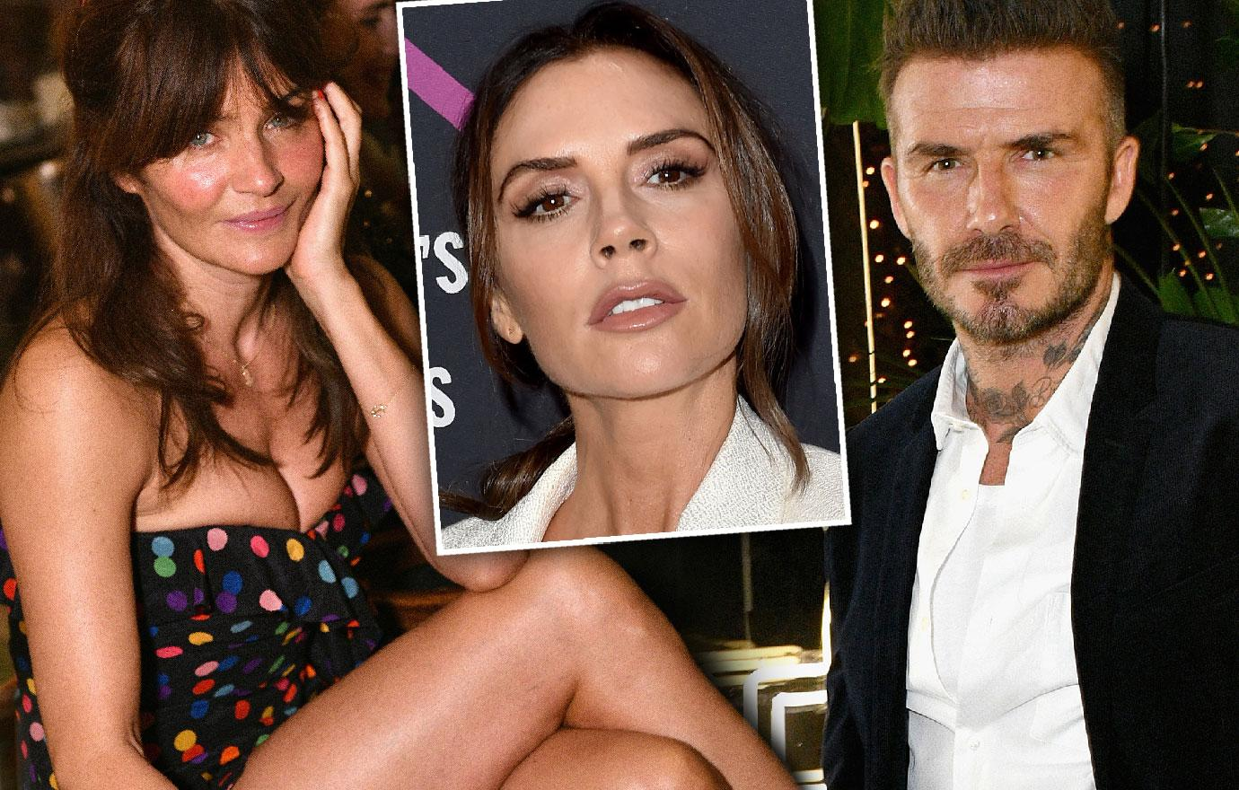 David Beckham Parties In Miami With Supermodel Helena Christensen
