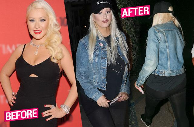 christina aguilera weight gain plastic surgery lips