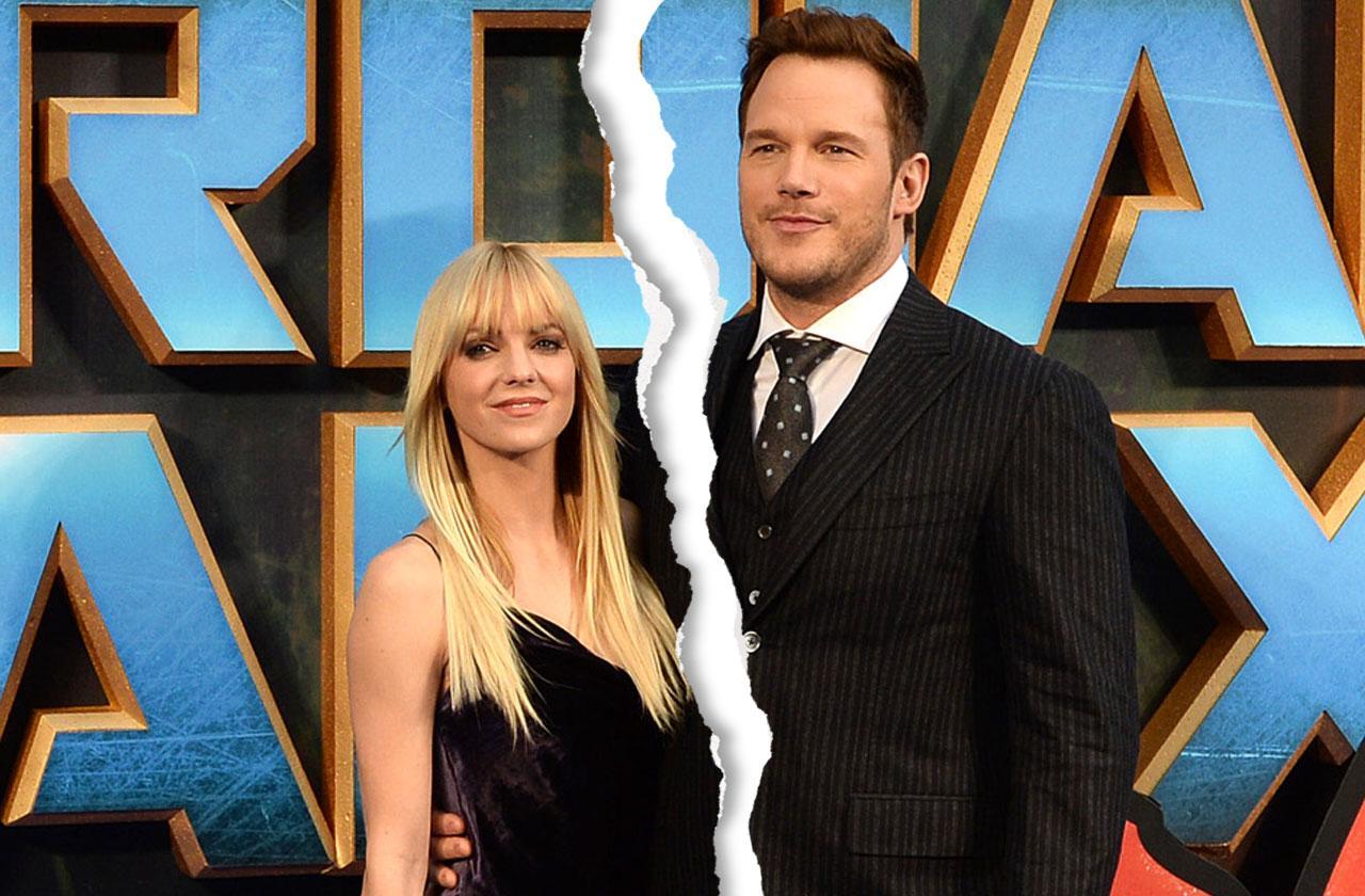 Chris Pratt Anna Faris Split