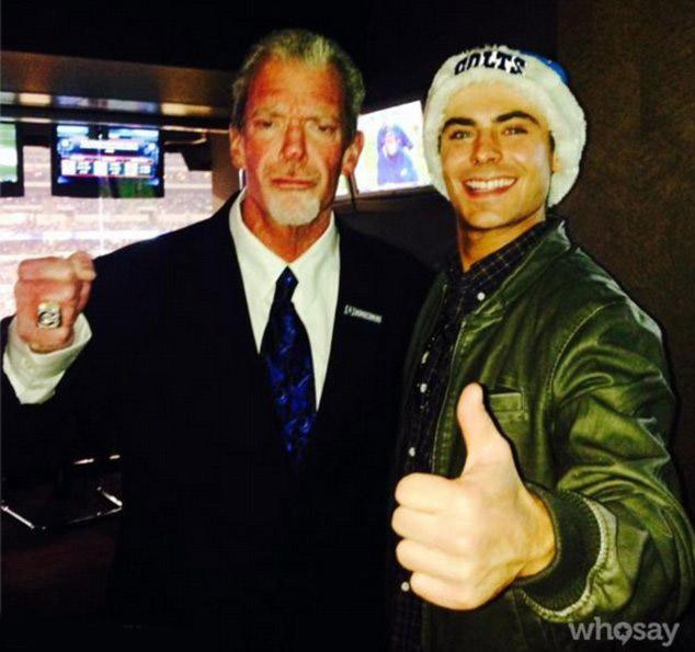 //zac efron colts game