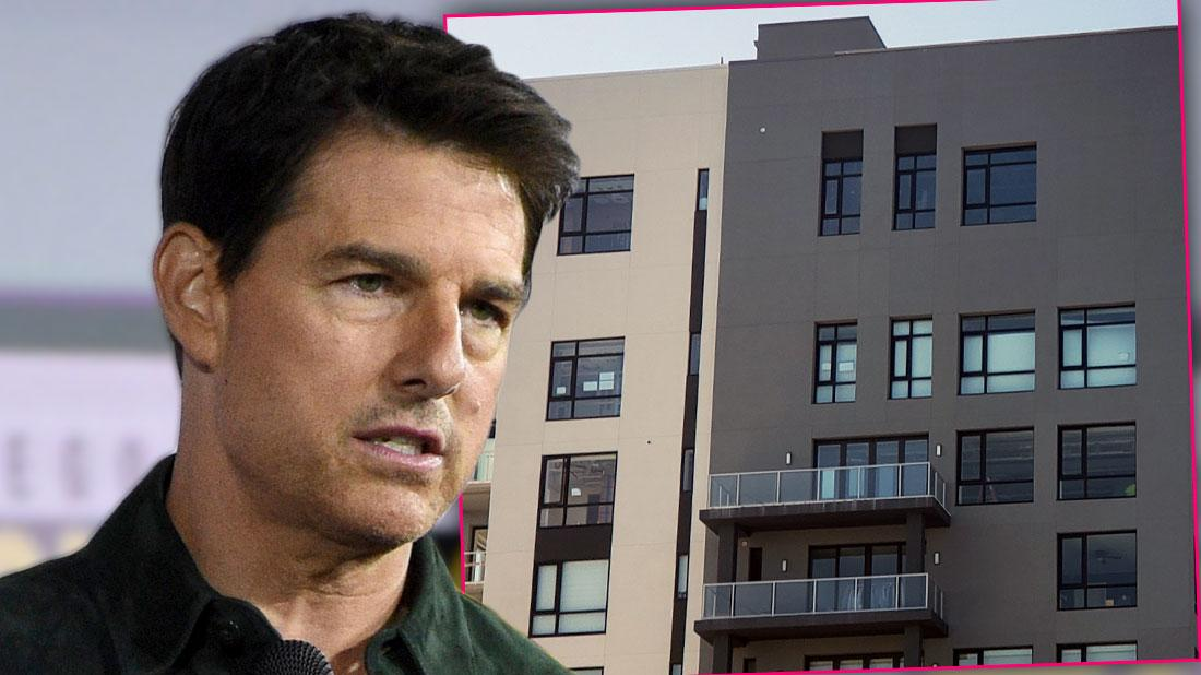 Close Up of Tom Cruise Inset Florida Condo With Windows covered