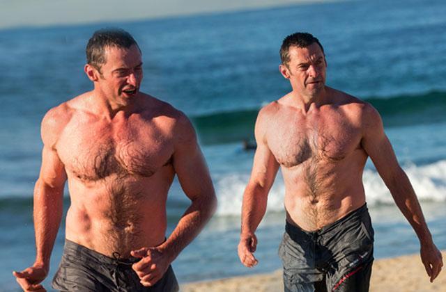 //hugh jackman bathing suit abs shirtless bondi beach sydney pp