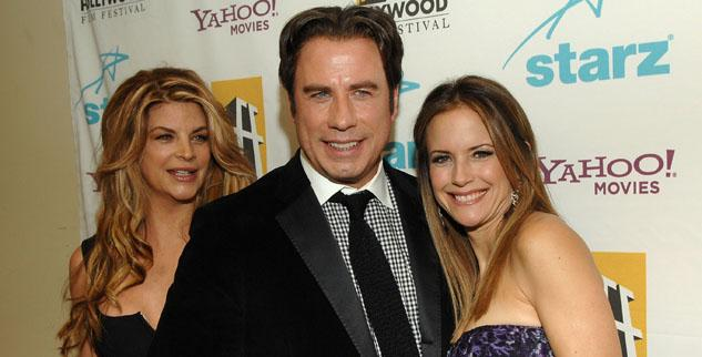 Kirstie Alley, John Travolta Kelly Preston
