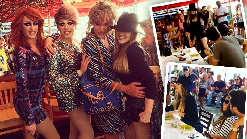 //khloe kardashian drag queens fire island pp