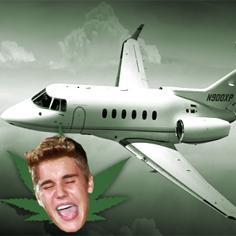 //justin bieber plane police searched marijuana  sq