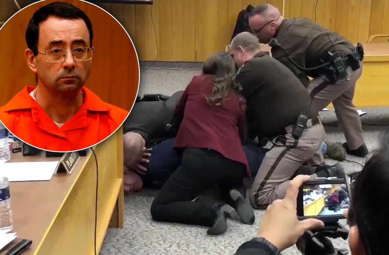 Father Lunges Larry Nassar Court Video