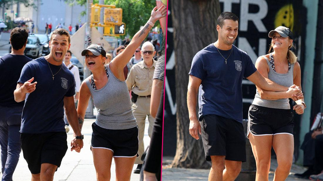 Miranda Lambert and husband Brendan McLoughlin are all smiles during romantic stroll in NYC-