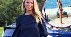 //gwyneth paltrow shows bikini bump PP