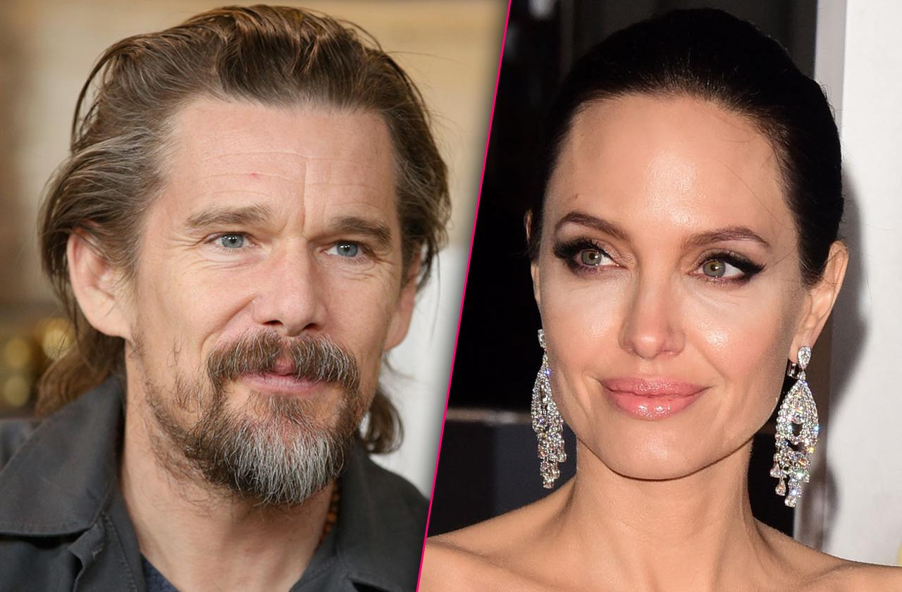 //angelina jolie attracted married ethan hawke pp