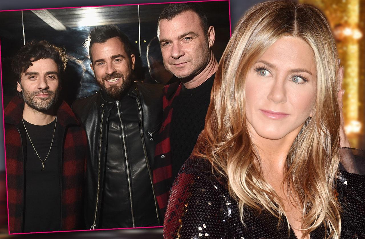 Justin Theroux Parties NYC Jen Aniston Birthday Brad Pitt