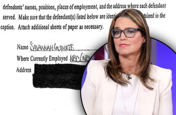 //savannah guthrie sued prison inmate today show witchcraft complaint pp