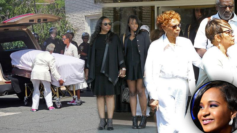 //guests attending bobbi kristina brown new jersey funeral service pp
