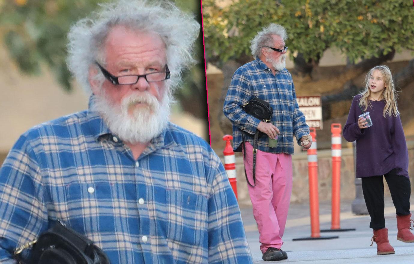Nick Nolte Looks Like Santa Claus With Daughter