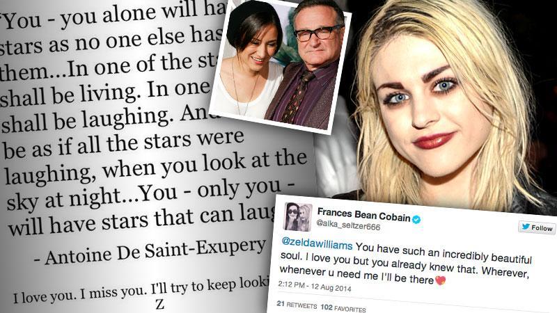 //frances bean cobain tweets support zelda williams pp sl