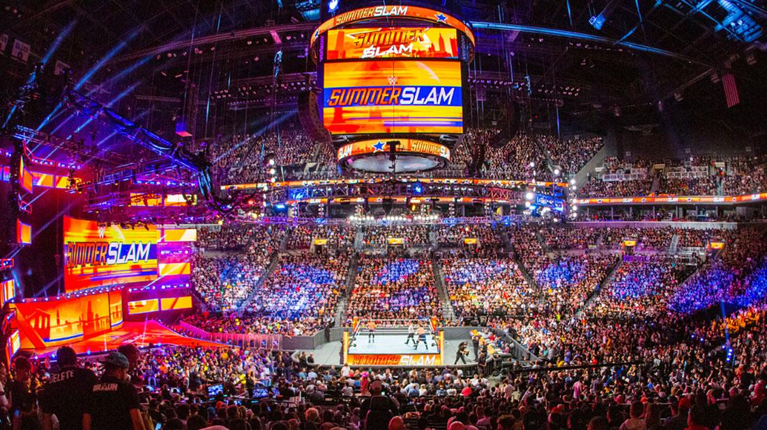 WWE SummerSlam Stadium Filled With WWE Fans